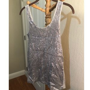 Gray Sequin Tank Top Size Large